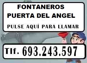 Fontaneros Puerta del Angel Madrid Urgentes
