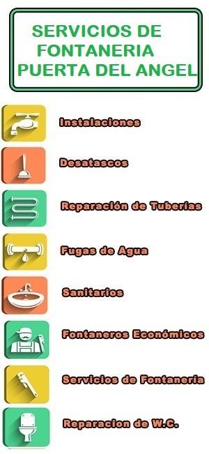 servicios de fontaneria en Puerta del Angel