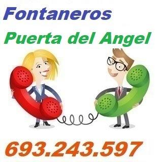 Telefono de la empresa fontaneros Puerta del Angel